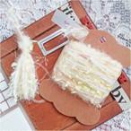 §koko§ 引き揃え糸カード ~幸せの黄色い鳥~ オリジナル糸 モヘア ラッピング レース タッセル