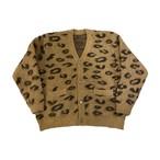 leopard mohair cardigan