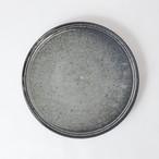 [沖 誠]8寸プレート(炭化ボーダー)
