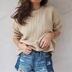 残り1点!Over-sized Knit Pullover 《BEIGE》