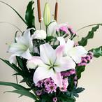 夏の贈り花  ユリの花束(2束1対セット)