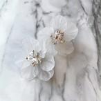 クリアイヤリング-smoky flower-