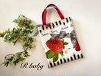【R baby】いちごのミニトートバッグ i0702056