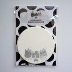 HANA circus original 活版印刷のメッセージカード コースター 10枚セット はちわれ キジトラ 黒猫