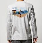 No.2020-welshcorgi-longts001  : 長袖Tシャツ 5.6oz  サーフシリーズ コーギーサファーマン バージョン1 NO SURF NO LIFE