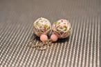 桜の香り・麻の葉模様の手まり14kgfピアス