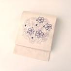 2011 刺し子刺繍◆開き名古屋帯