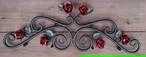 。☆<受注製作>☆送料無料☆サイズ・カラー変更OK☆ロートアイアン☆薔薇の妻飾り☆<アンティークレッド