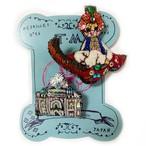 刺繍ミニブローチ魔法の絨毯と宮殿