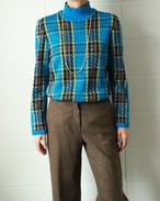 Yves Saint Laurent glitter check knit