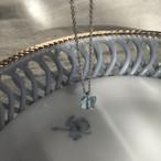 Aquamarine papillon necklace (6mm)