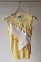 【KOTOHAYOKOZAWA】pleats top no sleeve-yellow