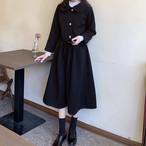 セットアップ 2点セット ジャケット スカート ミモレ丈 ブラック 大人可愛い レディース ファッション 韓国 オルチャン