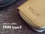 【販売中】DOLLiS×CAMEOダーツケース TRIM type2 DOLLiS限定モデル 本革ブラック