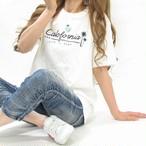 カリフォルニア ロゴ ヤシの木 Tシャツ  ユニセックス オフホワイト