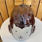 弥満丈欅窯の湯たんぽ <ハリネズミ> アメ茶