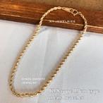 K18 18金 ロープ ブレスレット 19cm 男性用 メンズ mens size サイズ