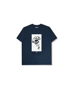 "XENO x BAKI Collaboration T-shirt ""JACK"" Navy"