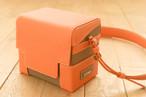 レザーカメラバッグ【オレンジ×トープ】| セミオーダー対応