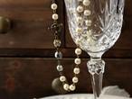 【 ご予約品 】 《3way》 ミリアム・ハスケルのNIKIガラスパール使用 シンプルシック・ショートネックレス