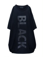 【#000000】  black-BIG_T-shirt#009