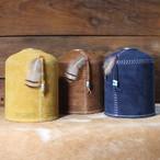 What will be will be スウェード レザー OD缶 ガス缶 カバー(大:470g/500gサイズ) ハンドメイド レザー 本皮 アウトドア キャンプ グッズ wb0015