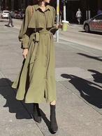 ローリーコートワンピース ワンピース ロングワンピース 韓国ファッション