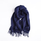 THE INOUE BROTHERS/Brushed Scarf/Navy