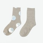 METAL SOX (4.5DOT) MIX BEIGE X SILVER