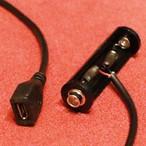 単3電池形microUSBジャック接続ケーブル [A-mUSB-AABAT]