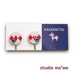 ■KASAMATSU-08 イヤリング。まる。〜ピアス変更可〜
