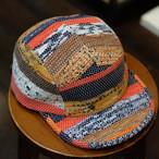 KUON(クオン) 襤褸カラフル裂き織り 5パネルキャップ その4