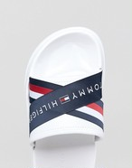 Tommy Hilfiger メンズサンダル Cross Over Slider Icon Stripe Logo
