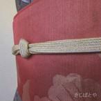 正絹 桜色に金糸の帯締め