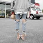 irregular damage jeans 2964