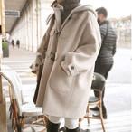 【outer】秋冬アウター防寒フード付きファッションコート