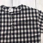 白×黒チェック半袖ブラウス☆ラスト2点90・120サイズ