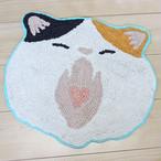 【ネコ】マットがおー(ミケネコ)【猫雑貨 肉球 neko 三毛猫 14219-873-127】