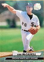 MLBカード 92FLEER Kirk Mccaskill #338 WHITE SOX