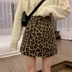 【bottoms】ヒョウ柄レトロハイウエストスカート24305523