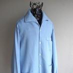 1970's [REB] イタリアンカラー パイルシャツ ライトブルー 実寸(M位)