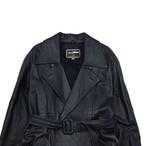 Unisex Double breasted leather coat