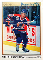 NHLカード 91-92 O-PEE-CHEE VINCENT DAMPHOUSSE #104 OILERS