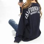 BIGシルエット カリフォルニア バックロゴ ロンT オーバーサイズ