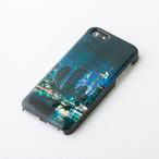 iPhoneSE/5/5sケース 天然貝仕様(都会の夜景・黒カバー)<螺鈿アート>
