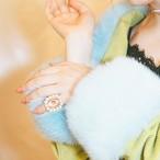 [9号] Liquem / ディフォルメ・リング(ピンク) 9号