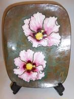 安藤七宝蘭飾り皿 enamel plate(orchid)
