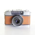 テスト用フィルム1本&現像代込み!F2.8 30mm PEN EES-2 OLYMPUS オリンパスペン EES-2 [ライトブラウン] ハーフ コンパクト 中古フィルムカメラ
