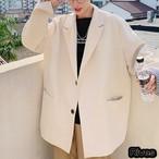 ジャケット アウター メンズ ブラウン 長袖 綺麗目 オシャレ 韓国 オルチャン  原宿 ストリート系 モード系 ストリートファッション 韓国ファッション アパレル Rives リーブス 黒 クリーム ライトブルー ブラック