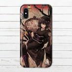 #096-002 iPhoneケース スマホケース 病みかわいい イラスト iPhoneXS/X Xperia iPhone5/6/6s/7/8 ケース 女の子 かわいい ARROWS AQUOS タイトル:あらくね様のうわさ 作:ようか